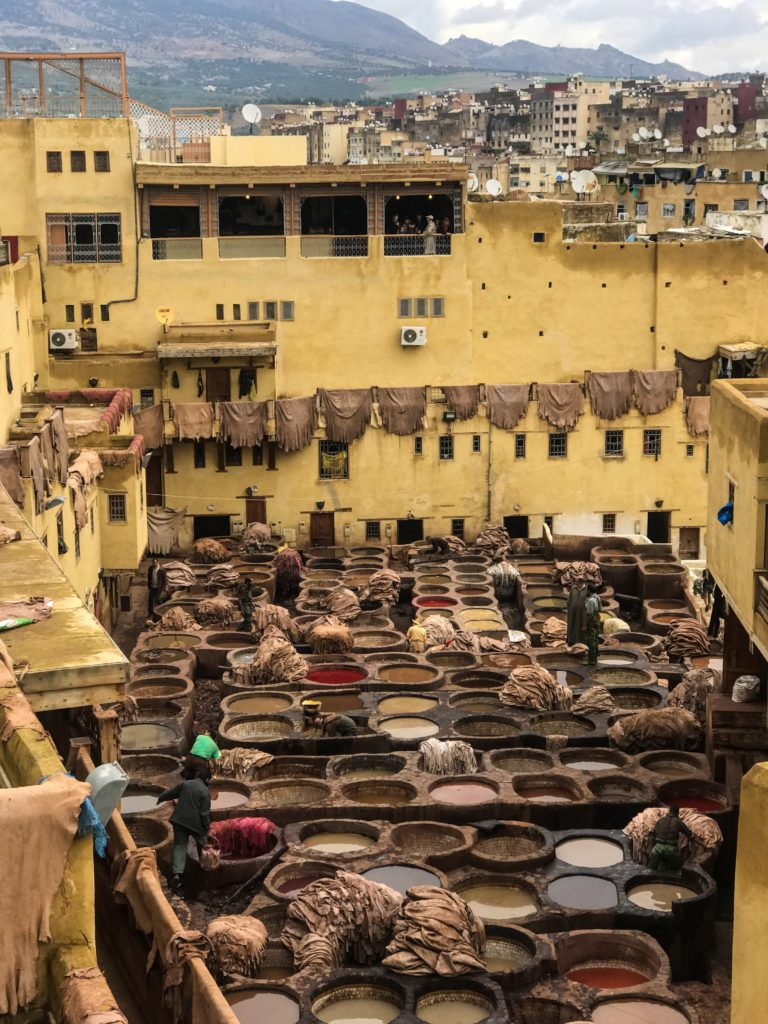 visiter maroc morocco Fes old medina tannerie tannery